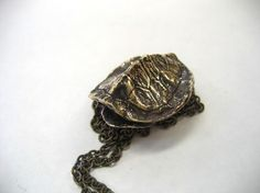 Bronze Turtle Shell Pendant Necklace by mrd74 on Etsy, $65.00