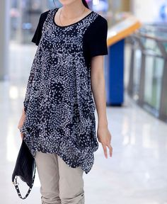Soft comfortable T shirt Bottoming shirt dress. $56.00, via Etsy.