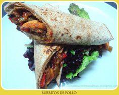 Burritos de pollo y verduras  Comida sana