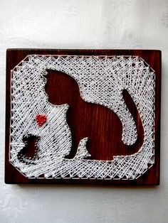 String Art Love Picture String art Wall decor by UnforgettableMan