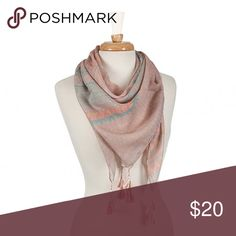 Pink-Mint Scarf-HOST PICK This infinity scarf features Aztec print and tassel accents. (This closet does not trade) Boutique Accessories Scarves & Wraps