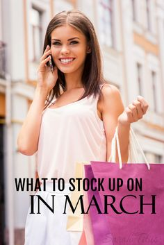 You could be leaving thousands of dollars on the table by not knowing what to stock up on each month. Quick list of what to stock up on in March and what you should be on the lookout for so you don't miss out on those deals!