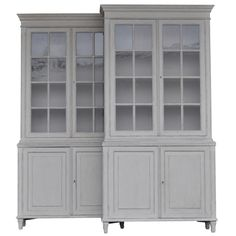 Large Pair of Swedish Kitchen or Library Cabinets