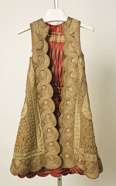 Coat , 19th century Greek silk, metallic