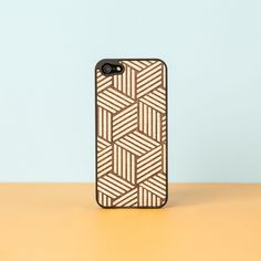Optical Wooden iPhone 5 Cover