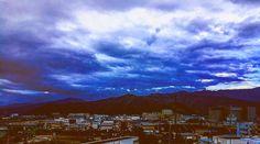 The sky after the rain viewed through the window of Hokuriku Shinkansen. #nagano #sky #hokurikushinkansen