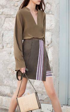 Xylo Suede Wrap Skirt by Zeus + Dione | Moda Operandi