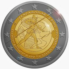 2 euro Greece 2010, 2.500th anniversary of the Battle of Marathon