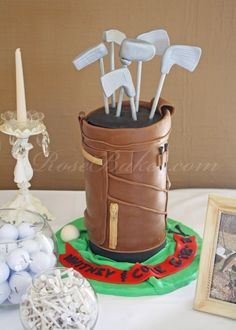 Golf Bag Groom's Cak