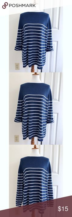 GAP striped oversized sweater - Size XXL - I don't trade or sell outside of posh. - I ship every single day Monday-Saturday. - All items come from a smoke free, pet free home!  - If you have anymore questions just let me know and I would be happy to help.  - Happy poshing everyone! GAP Sweaters Crew & Scoop Necks