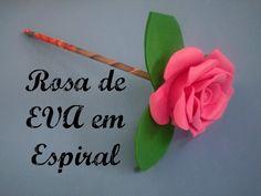 Rosa de EVA em Espiral
