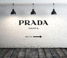 PRADA MARFA ゴシップガール ウォールステッカー Luxury Wallpaper, Wallpaper Decor, Luxury Graphic Design, Prada Marfa, Word Wall Decor, Boujee Aesthetic, Fun Shots, Beautiful Mess, Wall Murals