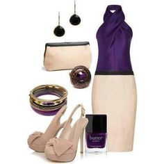 ivory and purple