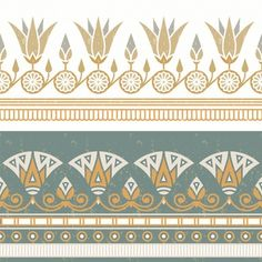Seamless Pattern Of Egyptian National Ornament With A White Flower. Egyptian Drawings, Egyptian Tattoo, Egyptian Art, Pattern Art, Pattern Design, Pattern Flower, Vector Pattern, Egypt Design, Papyrus