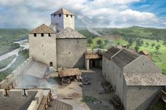Reconstruction attempt of the older part of the Hapsburg Castle by Joe Rohrer