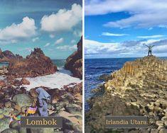 Pantai Semeti di Lombok = Giant's Causeway di Irlandia Utara #judionline #bandarjudi #bolatangkas #8tangkas #jackpot Lombok, Mount Everest, Mountains, Nature, Travel, Moonlight, Naturaleza, Viajes, Trips