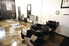 Reception With Black Amp Red Accent Walls Spas Amp Salons 2