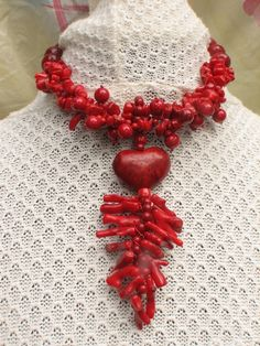 Handwoven Coral Necklace