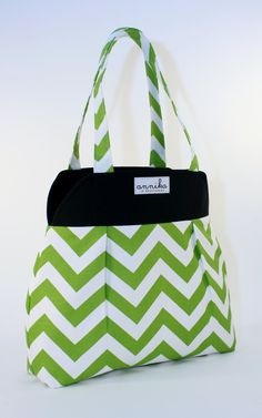 Large Nanette Tote in Modern Chevron Zigzag with Owl Lining ...From Annika in Chautauqua. $64.99, via Etsy.