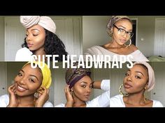 5 EASY HEADWRAP/TURBAN STYLES ✨ (TWA Friendly) - YouTube