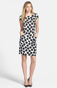$88, Polka Dot Stretch Twill Sheath Dress by Gabby Skye. Sold by Nordstrom. Click for more info: http://lookastic.com/women/shop_items/195377/redirect