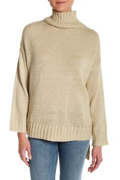 Oversized Hi-Lo Turtleneck Sweater
