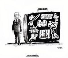 """OÖN-Karikatur vom 2. März 2017: """"Reisegepäck"""" Mehr Karikaturen auf: http://www.nachrichten.at/nachrichten/karikatur/ (Bild: Mayerhofer)"""