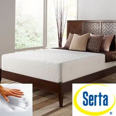 Serta Deluxe 12 inch Full-size Memory Foam Mattress | Overstock.com Shopping - Great Deals on Serta Mattresses