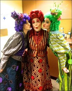 Mrs. Cory with her daughters, Annie and Frannie! #colorfulwigs The Palace Theater, a new professional regional theater in Wisconsin Dells, kicks off its first season with Disney's Mary Poppins, directed and choreographed by Marc Robin. Cast member Kari Baker takes us behind the scenes at the new 800-seat venue.