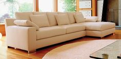 Logan Contemporary Sofa - Like the modern yet classic look of this
