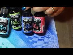 Dylusion Ink Spray basics with Kerrie at Alice in Paperland Sydney - YouTube