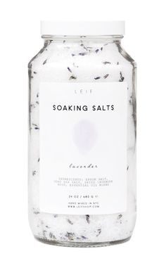 Lovely and simple. Read the ingredients like a recipe! We can make an epsom salt bath soak with... epsom salt, sea salt, dried lavender and essential oil. Loose herbs can get messy in the tub - you might want to pour it into a little cotton bag or refillable tea bag.