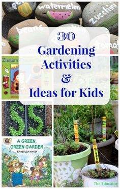 Kids Garden Guide -- ideas for what to plant, how to get started and fun garden activities! Gardening with kids life sciences plant activities for kids Outdoor Learning, Outdoor Activities, Activities For Kids, Nature Activities, Kids Learning, Spring Activities, Educational Activities, Organic Gardening, Gardening Tips