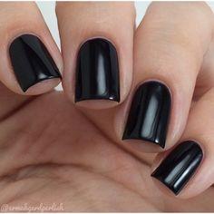 3 Free Black Nail Polish Vegan ($12) ❤ liked on Polyvore featuring beauty products, nail care, nail polish, nails, makeup and beauty