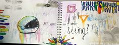 """Visual Journals #8 - Draw/Paint - """"SEE"""" - NGHS Room 406"""