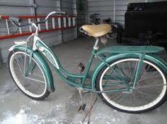 """Pinner said, """"My schwinn bike, circa 1950's..found in my Grandma`s garage and she gave it to me!!"""""""