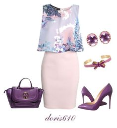 """Untitled #1090"" by doris610 on Polyvore featuring Boohoo, Christian Louboutin, Gucci, Larkspur & Hawk and Vera Bradley"