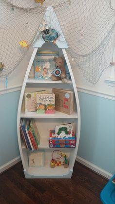Boat Shaped Book Case by HobbyTownWoodWorks on Etsy