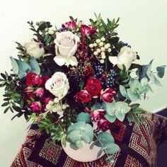 Roses, Brunia and Viburnum