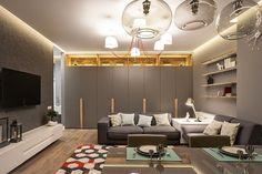 Casinha colorida: Home tour: um loft elegante com design elaborado