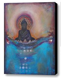 Self Reflection Art Print by Tara Catalano. All prints are professionally printed, packaged, and shipped within 3 - 4 business days. Buddha Kunst, Buddha Art, Buddha Buddhism, Top Paintings, Colorful Paintings, Abstract Paintings, Fine Art Amerika, Spiritual Paintings, Buddha Decor