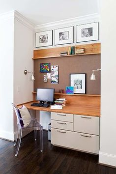 one thing to remember when looking for the space to put a home office is that alcove office