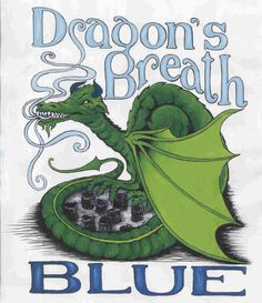 // What exactly is Dragon's Breath Blue?  It's a small black bell of blue cheese, direct from That Duchman in Nova Scotia.
