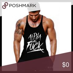 d7e683593df37 MENS MUSCLE TANKS Men Vest Aerobics Body Building Vintage Women can also  wear LARGE 20 across.Med 19 Cross 27 long very summery and comfortable my tank  tops ...