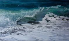 """The ocean - like no other place in the world. I feel a sense of peace and awe."" New work by Vadim Klevenskiy ""Majestic"" 36x60- oil on canvas."