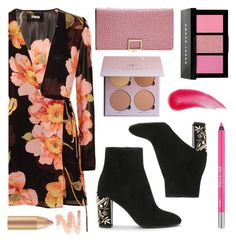 """""""DARK FLORAL"""" by audreyroset ❤ liked on Polyvore featuring Reformation, Bobbi Brown Cosmetics, Urban Decay and Charlotte Tilbury"""