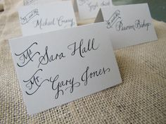 Wedding Name Place Table or Escort Cards Shabby Chic by RachelCarl, $1.50
