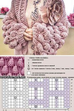 Baby Knitting Patterns, Baby Sweater Knitting Pattern, Knitting Stitches, Knitting Designs, Crochet Patterns, Col Crochet, Crochet Hooded Scarf, Crochet Skirt Pattern, Knitting Dolls Clothes