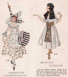 Ladies Home Journal Costume Booklet Vintage Costumes, Vintage Outfits, Vintage Fashion, Historical Costume, Historical Clothing, Fashion History, Fashion Art, Victorian Fancy Dress, Costume Design Sketch