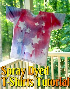 Spray_Dyed_T-shirt_Tutorial using ScotchBlue Painter's Tape and RIT Dye #ScotchBlueRibbons project